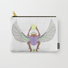 Purple/Green Scarab Carry-All Pouch