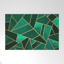Emerald and Copper Welcome Mat