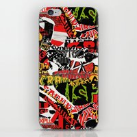 bands iPhone & iPod Skins featuring BANDS by DIVIDUS