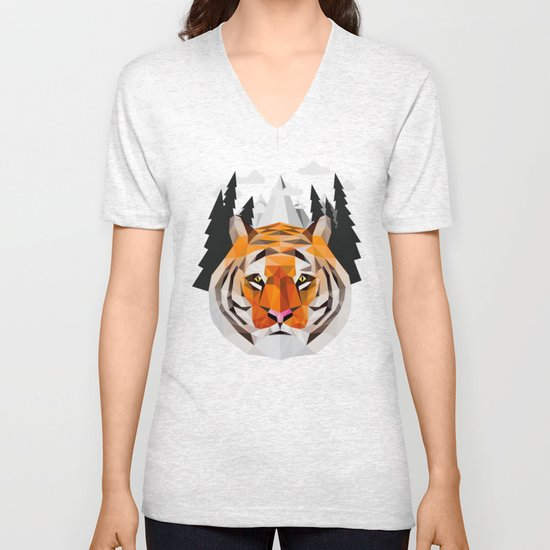 The Siberian Tiger Unisex V-Neck