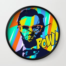 HIPSTER LINCOLN POP ART Wall Clock