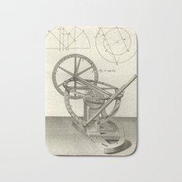 Jérôme Lalande's Astronomie (1771) - Telescope Apparatus 13 Bath Mat