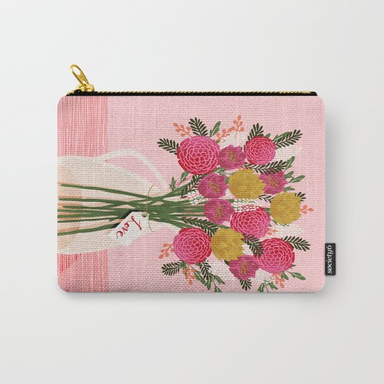 Valentines Day Bouquet floral vase flower by Andrea Lauren  Carry-All Pouch