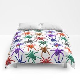 Spiders Colorful Halloween Tarantulas Pattern Comforters