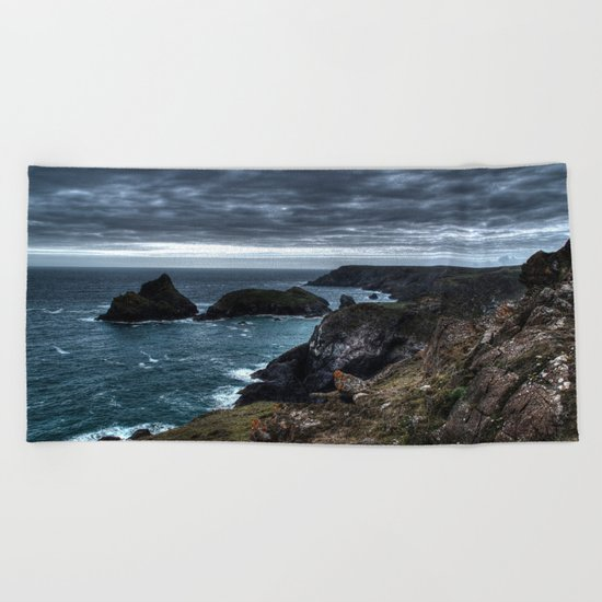Let it rain on me  Beach Towel