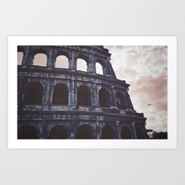 Pink Skies and Arches. Art Print