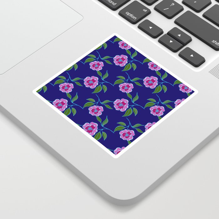 Peony Floral Floating Pattern Sticker