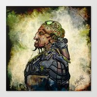 military Canvas Prints featuring Military Cyborg by April Gann