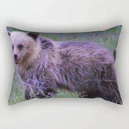 Grizzly bear cub in Jasper National Park | Alberta Rectangular Pillow