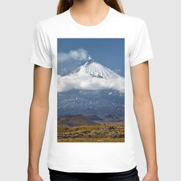 Klyuchevskoy Volcano or Klyuchevskaya Sopka on Kamchatka - highest active volcano of Eurasia T-shirt