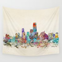 new jersey Wall Tapestries featuring jersey city new jersey by bri.buckley
