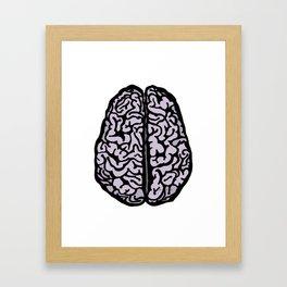 Brain (transparent) Framed Art Print