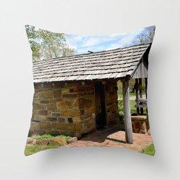 Prairie Grove Battlefield - The Latta Homestead, Established in 1834, No. 4 of 5 Throw Pillow