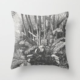 Palms in Water Throw Pillow