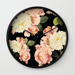 Flora temptation - night Wall Clock