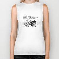 copenhagen Biker Tanks featuring Copenhagen by sarknoem