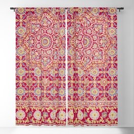 Indian embroidery on crimson silk from the Industrial arts of the Nineteenth Century (1851-1853) by (1820-1877) Blackout Curtain