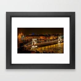 Budapest | Szechenyi Chain Bridge Framed Art Print