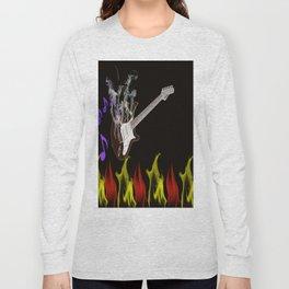 Flaming Guitar Long Sleeve T-shirt