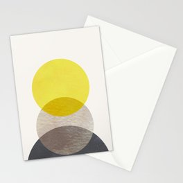 SUN MOON EARTH Stationery Cards
