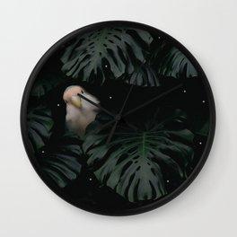 Little Lovebird Hiding Wall Clock