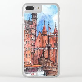 Gdansk watercolor illustration Clear iPhone Case
