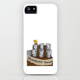 Drumpfster Tower iPhone Case