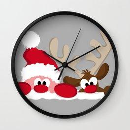 Santa & Reindeer Wall Clock