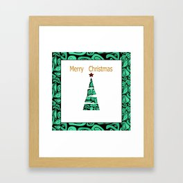 merry Christmas . Framed Art Print