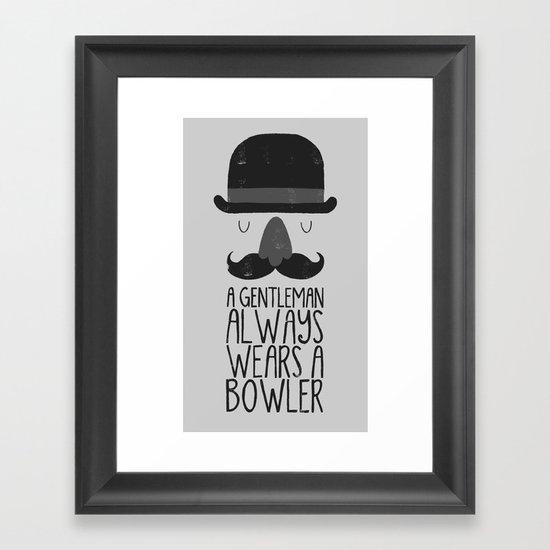 bowler hat Framed Art Print