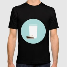 #25 Milk and Cookies Mens Fitted Tee Black MEDIUM