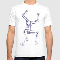 """""""get up and go"""" / """"got up and went"""" Mens Fitted Tee White MEDIUM"""