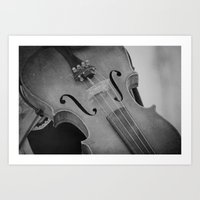 violin Art Prints featuring Violin by KimberosePhotography