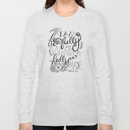 Fearfully and Wonderfully Made - BLACK Long Sleeve T-shirt