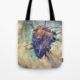 Damaged Heart Tote Bag