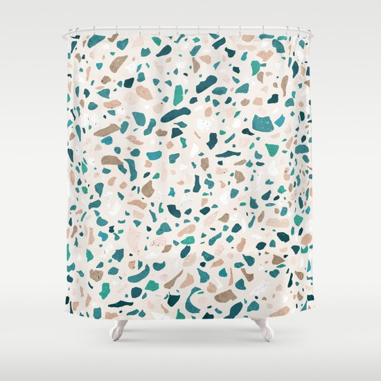 Terrazzo Turquoise Pattern by sylvaincombe