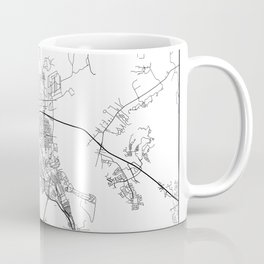 Minimal City Maps - Map Of North Charleston, South Carolina, United States Coffee Mug