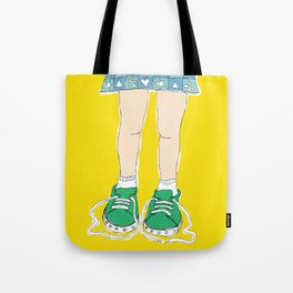 Tying Shoes Tote Bag
