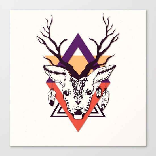 Ethnic - Deer Canvas Print