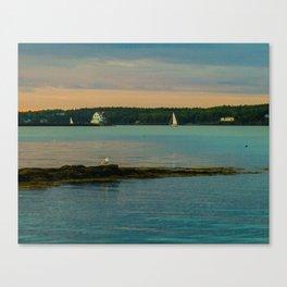 """Rockland Light & 2 Sails Canvas Print"