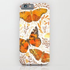 Orange Butterflies Slim Case iPhone 6s