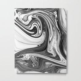 GOLDEN - BLACK Metal Print