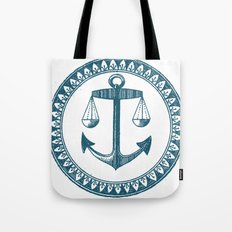 Anchor & Scales Tote Bag