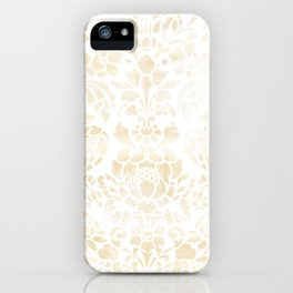 Vintage Floral Pattern White Wash iPhone Case