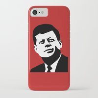 jfk iPhone & iPod Cases featuring JFK Poster by Steve Lovelace