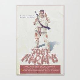 Joey Karate Canvas Print
