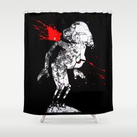 hunting Shower Curtains featuring Hunting season by Tom Freeman