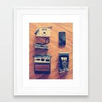 cameras Framed Art Prints featuring Cameras by tycejones