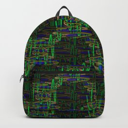 Chain of multi-colored springs. Backpack