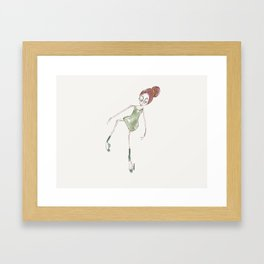 Ballet Dancer Framed Art Print